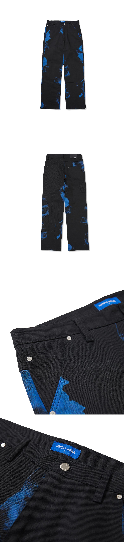 노우웨이브(KNOW WAVE) 블루 프린트 코튼 팬츠 KNP003m(BLACK)